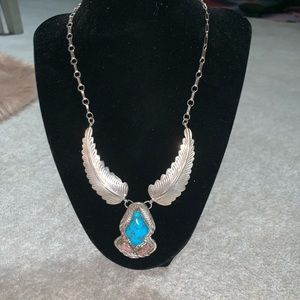 Jewelry - Stunning Turquoise and Sterling Necklace